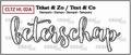 Crealies Clear Stamp Tekst en zo Beterschap CLTZHL02A