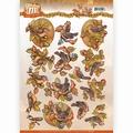 Yvonne Creations knipvel Fabulous Fall - Birds CD11156 per vel