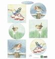Marianne Design Knipvel Tiny's Birds in Winter   IT605 per vel