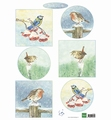 Marianne Design Knipvel Tiny's Birds in Winter   IT605