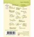 Leane Creatief Clear Stamp Sentiments 3 Dutch LCR55.5527 per stuk