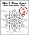 Crealies Clear Stamp Bits & Pieces nr. 129  CLBP129 per stuk