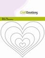 Craft Emotions Snijmal Randen Hart 115633/0820 per stuk