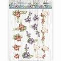Precious Marieke knipvel Winter Flowers Amaryllis CD11190 per vel