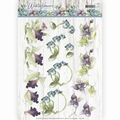 Precious Marieke knipvel Winter Flowers Orchids CD11188 per vel