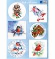 Marianne Design Knipvel Birds in the Snow VK9572
