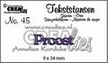 Crealies Tekstmal Proost CLTS45