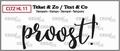 Crealies Clear Stamp Tekst en zo Proost! CLTZHL11