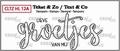 Crealies Clear Stamp Tekst en zo Groetjes CLTZHL12A