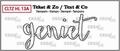 Crealies Clear Stamp Tekst en zo Geniet CLTZHL13A