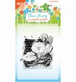 Joy! Crafts Clear Stamp Flower Script 6410/0387