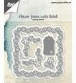 Joy Crafts Snijmal Bloemenframe met Label 6002/1166 per stuk