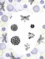 Card-io Clear Stamp Dragonfly Garden CDMADR-01