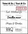 Crealies Clear Stamp Tekst en zo Divers 19 CLTZD19