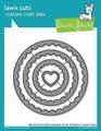 Lawn Fawn Snijmal Reverse Stitched Scalloped Circle LF1801