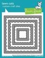 Lawn Fawn Snijmal Reverse Stitched Scalloped Square LF1799