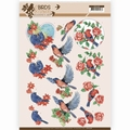 Jeanine's Art Knipvel Birds & Flowers - Blue Birds CD11218
