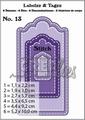 Crealies Labels & Tags nr. 13 Stitch  CLLT13