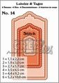 Crealies Labels & Tags nr. 14 Stitch  CLLT14