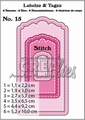 Crealies Labels & Tags nr. 15 Stitch  CLLT15