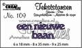 Crealies Tekstmal Een nieuwe baan CLTS109