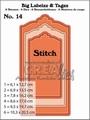 Crealies Big Labelzz & Tagzz nr. 14 Stitch  CLBLT14