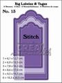 Crealies Big Labelzz & Tagzz nr. 13 Stitch  CLBLT13