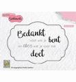 Nellie Snellen Clear Stamp Dutch Sentiments SENCS010