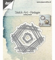 Joy Crafts Snijmal Sketch Art Pentagon 6002/1245