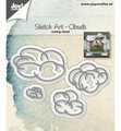 Joy Crafts Snijmal Sketch Art Wolken 6002/1244