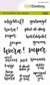 Craft Emotions Clear Stamp Handletter Geluk 130501/1830