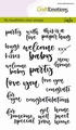 Craft Emotions Clear Stamp Handlettering 130501/1814