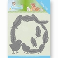Jeanine's Art Snijmal Young Animals Feathers Around JAD10067
