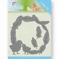 Jeanine's Art Snijmal Young Animals Feathers Around JAD10067