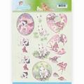 Jeanine's Art Knipvel Young Animals Cuties in Purple CD11275