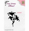Nellie Snellen Silhouette Clear Stamp Lilies SIL052