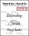 Crealies Clear Stamp Tekst en zo Beterschap 10 CLTZBE10