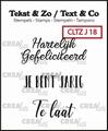 Crealies Clear Stamp Tekst en zo Jubileum 18 CLTZJ18