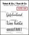 Crealies Clear Stamp Tekst en zo Jubileum 20 CLTZJ20