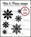 Crealies Clear Stamp Bits & Pieces nr. 141  CLBP141