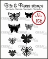 Crealies Clear Stamp Bits & Pieces nr. 156  CLBP156