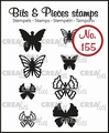 Crealies Clear Stamp Bits & Pieces nr. 155  CLBP155