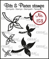 Crealies Clear Stamp Bits & Pieces nr. 153  CLBP153