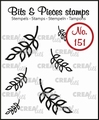Crealies Clear Stamp Bits & Pieces nr. 151  CLBP151