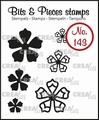 Crealies Clear Stamp Bits & Pieces nr. 143  CLBP143