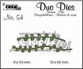 Crealies Duo Dies nr. 54 Bladeren CLDD54