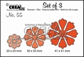 Crealies Set of Three nummer 55 Bloemen CLSET55