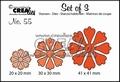Crealies Set of Three nummer 55 Bloemen CLSET55