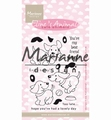 Marianne Design clear stamp Eline's Cute Puppies EC0177