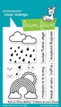 Lawn Fawn Clear Stamp Rain/Shine before 'n After LF1888